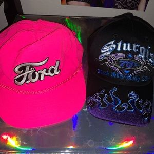 racer and biker flame hat/snapback set